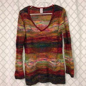 Bobbie Brooks Rainbow colored Sweater
